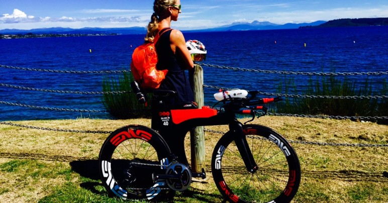 Meredith Kessler triathlete Lake Taupo New Zealand Ventum bike